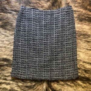 J. Crew The Pencil Skirt Wool Blend Graphite Tweed